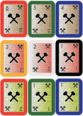 Complete set of 9 cards with the same symbol.